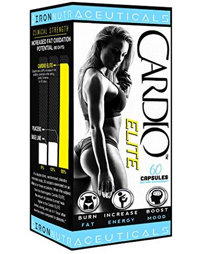 Cardio Elite Premium Women's Fat Burner for Rapid Safe Weight Loss • Energy • Focus • Green Tea Leaf Garcinia Cambogia • Keto and Vegan Friendly • 60 Capsules