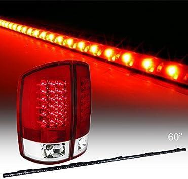 Spec-D Tuning LT-RAM02RLED-TM Dodge Ram 1500 2500 3500 Red Led Rear Tail Lights