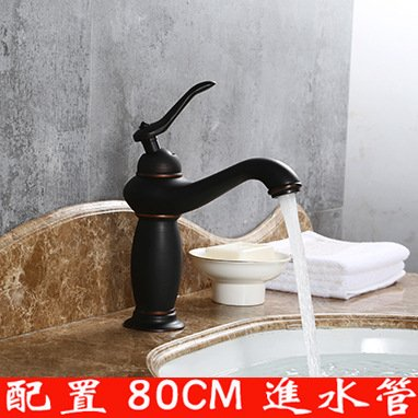 NewBorn Faucet Water Taps Hot And Cold Water Black Ancient Basin Antique Water Tap Single Hole Hot And Cold Wash Hand