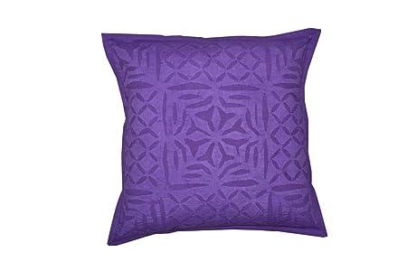 Artisan studio indian cotton applique throw pillow cover line