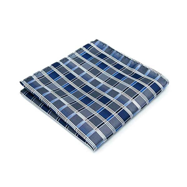 Shlax&Wing Ties For Men Blue Checkered Checks Silk Neckties Suit