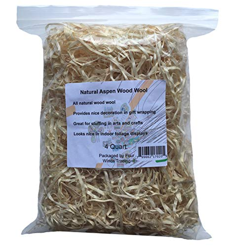 Natural Aspen Wood Wool (4 Quart)