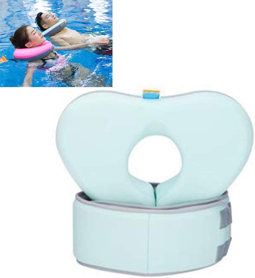 Creacom Conjunto de cinturón de Anillo de Cuello de natación, Conjunto de cinturón de Anillo de Cuello de natación Collar de Flotador de natación Niños Adultos Safty No Necesita Bomba XL Verde