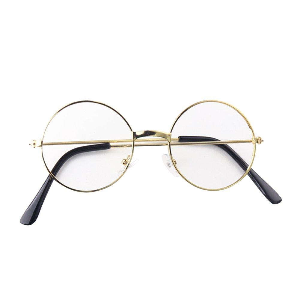 junkai M/ädchen Junge Brillen Rund Retro Stil Brille Metall Brillenfassung Keine Objektive Gl/äser f/ür Baby Kinder Unisex