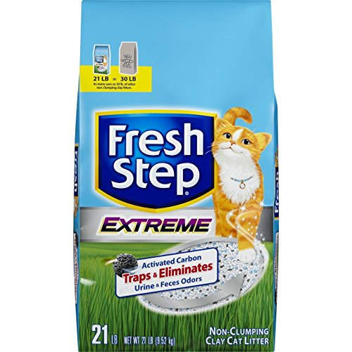 Fresh Step Extreme Clay, Non Clumping Cat Litter, Scented, 21 ()