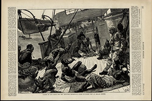 Expedition Deck (Ashanti Expedition Livestock Ship Deck Africans 1874 great old print for display)