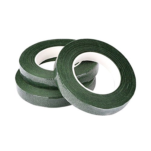 eBoot Pack of 3 Floral Tape Stem Wrap 1/ 2 Inch x 30 Yards, Dark Green