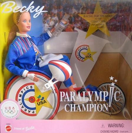 Amazon.es: Barbie Muñeca discapacidad en Silla de Ruedas: Becky Paralímpicos Champion: Juguetes y juegos