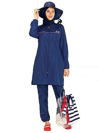 a29fc1d6c2791 Turkish Muslim Women Unlined Fully Covered Swimsuits Islamic Hijab Modesty  Swimsuit Costume Beachwear Burkini (S