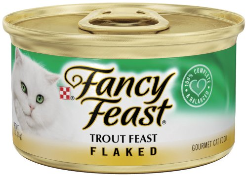 Purina Fancy Feast Flaked Trout Feast Cat Food - (24) 3 oz. Pull-top Can