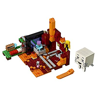 LEGO Minecraft The Nether Portal 21143 Building Kit (470 Pieces): Toys & Games