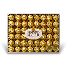 Ferrero Rocher, Fine Hazelnut Chocolates 48 Count 600 Gram Gift-Box