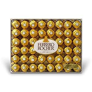 Ferrero Rocher Fine Hazelnut Chocolates, Flat, 48 Count