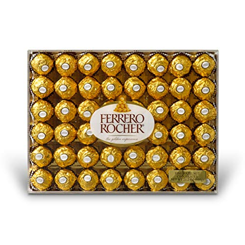 Ferrero Rocher Fine Hazelnut Chocolates, 21.1 Oz, 48 Count]()