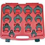 Generic 50mm 1/2'' DriveMetric Crowfoot Crowfoot Wrench Tools 14-Piece Set 27mm to Jumbo Metric 50mm 1/2'' Drive Tools 14-Piec