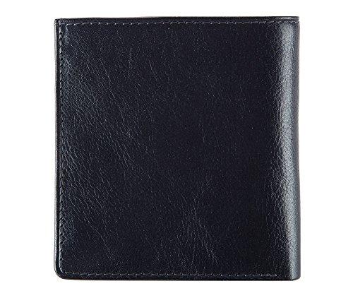 Wittchen Brieftasche | Farbe: Dunkelblau| Material: Narbenleder| Größe: 9,5x10 CM, | Orientierung: Horizontal | Kollektion: Italy| 21-1-065-N