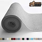 Gorilla Grip Original Drawer and Shelf Liner, Non Adhesive Roll, 20 Inch x 10 FT, Durable and Strong, Grip Liners for Drawers, Shelves, Cabinets, Storage, Kitchen and Desks, Light Gray