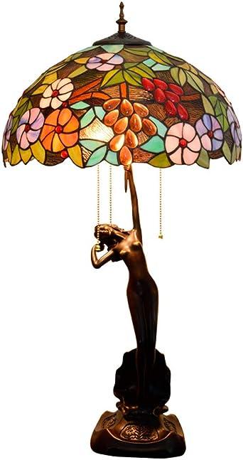 Sombra De Mesa Tiffany Estilo Lámpara De 30 Pulgadas De Alto Flor ...