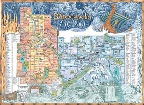Minneapolis St Paul Neighborhood Map Chris Devane 9781929687107