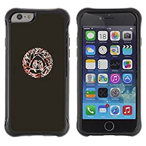 LASTONE PHONE CASE / Suave Silicona Caso Carcasa de Caucho Funda para Apple Iphone 6 / Birds Love Kiss Branches