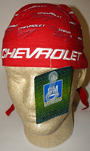 Officially Licensed Embroidered Chevrolet Chevy Head Wrap Doo Rag Skull Cap GM