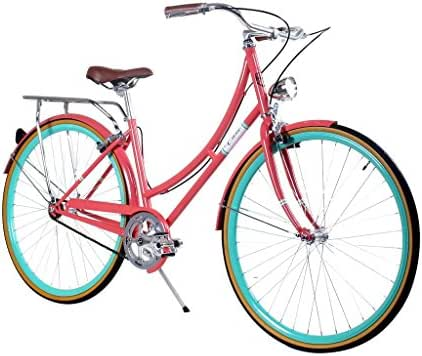 Zycle Fix Civic Women - Salmon - Women City Series Single-Speed Urban Commuter Bike