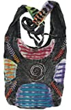 Bohemian Embroidered Ripped Razor Cut Sling Purse Handbag AND Backpack