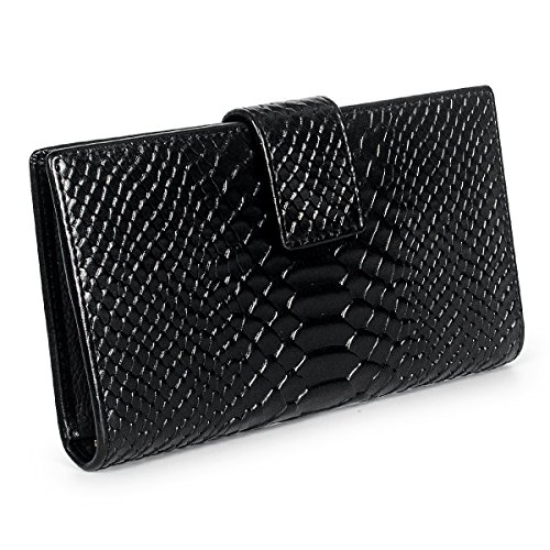 Fency Women's Multi-Card Crocodile Pattern Leather Tri-fold Wallets Minimalism Clutch iPhone 7 plus - Online Oroton Shop