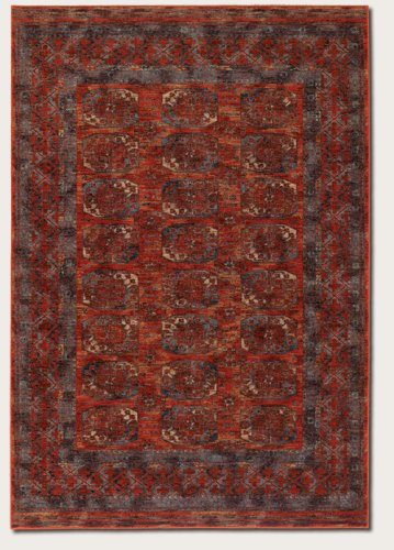 Couristan 4708/0032 Timeless Treasures Afghan Panel Area Rugs, 4-Feet 6-Inch by 6-Feet 6-Inch, Rust