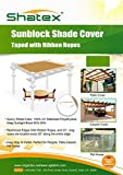 Shatex 90% UV Block Sunscreen Panel, Patio Cover, Taped Edge with Tie-down Rope,12ftx20ft