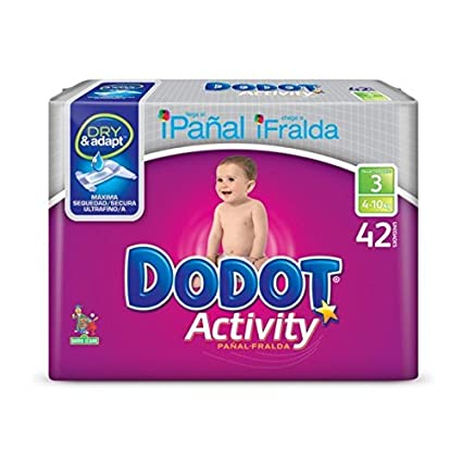 Dodot Plus Activity T-3 4-10Kg 42 unidades
