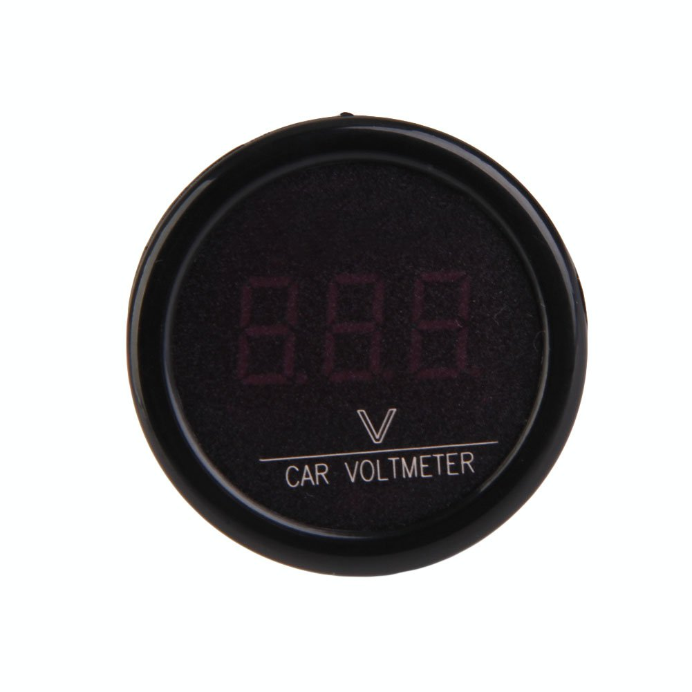 medidor de voltaje 12 V-24 V Volt/ímetro digital para coche vanpower