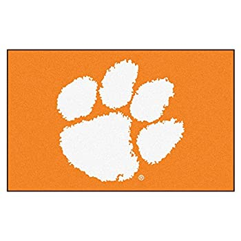 Image of FANMATS NCAA Clemson University Tigers Nylon Face Ultimat Rug