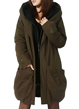 9e68d6fa7c Amazon.com: Minibee Women's Winter Outwear Hoodie Coat with Big ...