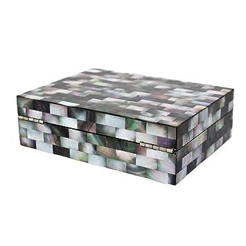 AnchengKAO Cajas Relojes Hombre Caja de Madera Exquisita de la colección de la joyería del Escritorio del Europeo del Norte de Madera con el Espejo Estuche ...