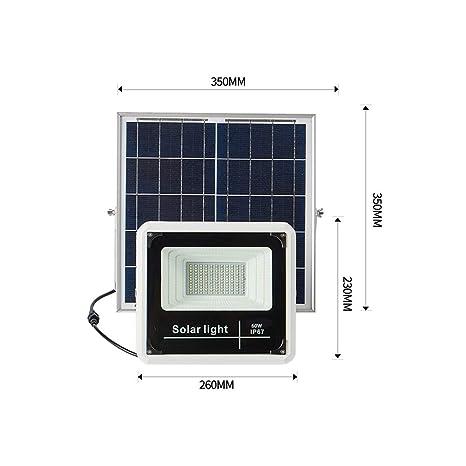 Solar Foco Proyector LED Exterior, IP67 a prueba de agua anochecer ...