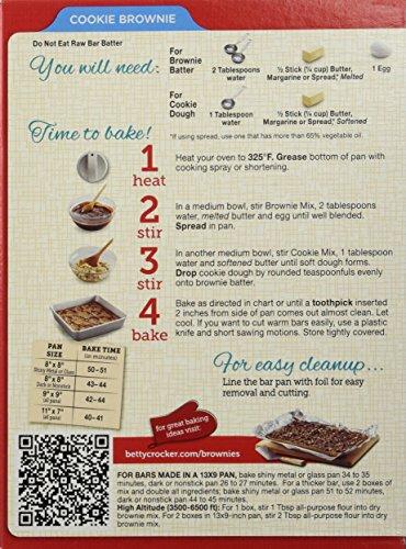 Amazon Betty Crocker Cookie Brownie Supreme Bars Mix 195oz