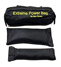 Ader Sand Bag- (Small) & Filler Bags- (2 Small, 2 Medium) Holds 1-50 Lbs.