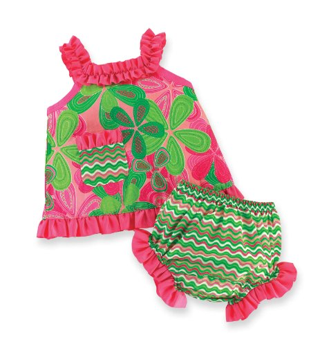 Mud Pie Baby-Girls Newborn Little Sprout Swing Top and Bloomer Set, Multi-Colored, 0-6 (Mud Pie Little Sprout)