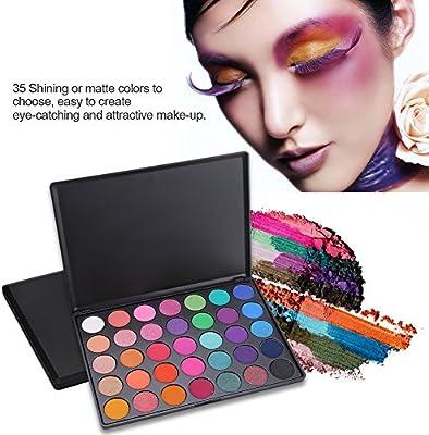 Filfeel 35 Colores Paleta de Sombras de Ojos Paleta Maquillaje a Prueba de Agua Conjunto (35E): Amazon.es: Belleza