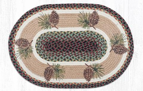 Patch Pinecone - Capitol Importing 88-28-081P 2 x 8 ft. Jute Oval Pinecone Patch
