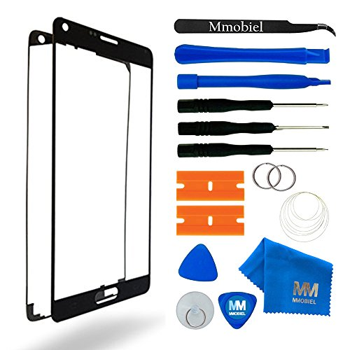 MMOBIEL Front Glass forSamsung Galaxy Note 5 N920 Series (Black) Display Touchscreen incl Tool Kit/Pre-Cut Sticker/Tweezers/ Roll of 2mm Adhesive Tape/Suction Cup/MetalWire/Cleaning Cloth