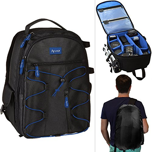 Acuvar DSLR Camera Backpack with Rain Cover (Backpack Camera Case)