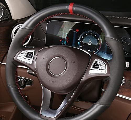 HOTRIMWORLD Interior Steering Wheel Button Trim Cover 12pcs for Mercedes-Benz C Class W205 S205 2014-2018
