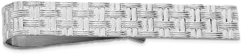 Sterling Silver Tie Bar Mens Solid 8 mm 50 mm Tie Tacs//Tie Bars Accessory