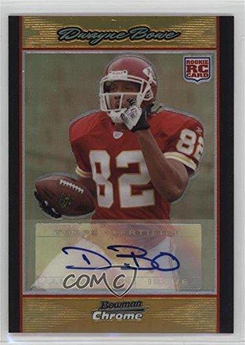 Dwayne Bowe #11/50 (Football Card) 2007 Bowman Chrome - [Base] - Rookie Autographs Gold Refractor [Autographed] #BC78 ()