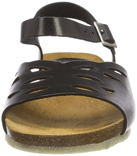 Jonny's 001 WoMen Sandals Naja Black Open Toe Black vvMrFHKq