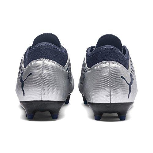 03 peacoat Jr FG 2 AG Chaussures 4 Football Silver de Mixte Puma Puma Enfant Future Argenté wSX6ZZ