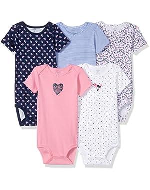 Baby Girls' 5 Pack Bodysuit (Baby)