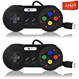 New SNES Super Nintendo Controller, iNNEXT Retro USB Super Classic Controller for PC / Mac (Pack of 2)